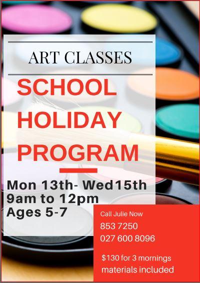 Art School Holiday Program – Queenwood Hamilton, April 2015
